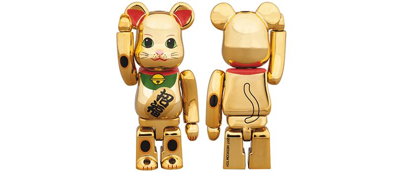 【12月19日(火)】BE@RBRICK 招き猫 金メッキ 伍 100% / 400%