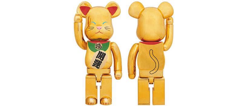 【抽選:1月8日(月)まで】BE@RBRICK 招き猫 金メッキ 弐 1000%