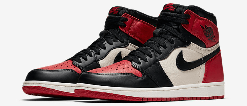 "【再販:3月27日(火)】NIKE AIR JORDAN 1 RETRO HIGH OG ""BRED TOE"""