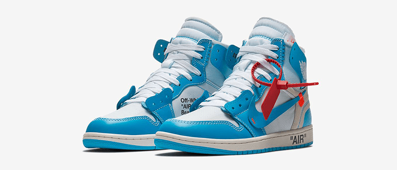"【海外抽選:3月1日(金)18時まで】NIKE AIR JORDAN 1 RETRO HIGH x OFF-WHITE ""POWDER BLUE"""
