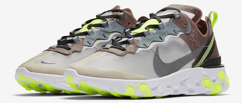 "【8月14日(火)】NIKE REACT ELEMENT 87 ""DESERT SAND & DARK GREY"""