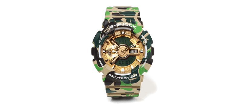 "【10月6日(土)】A BATHING APE® × G-SHOCK ""GA-110"""