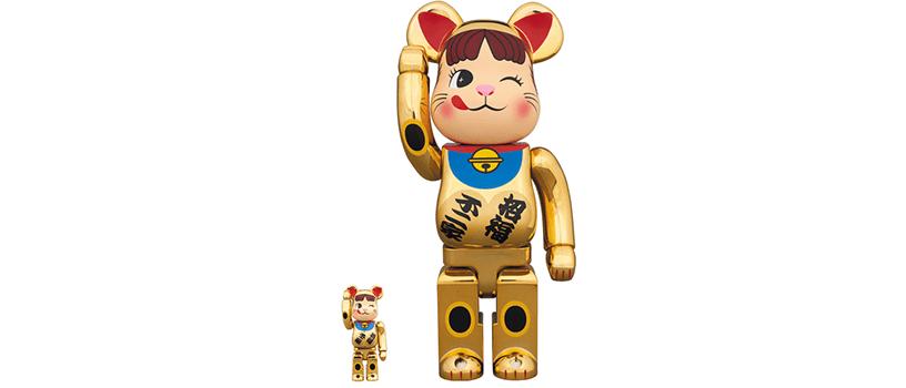 【11月27日(火)】BE@RBRICK 招き猫 ペコちゃん 金メッキ弐 100% & 400%