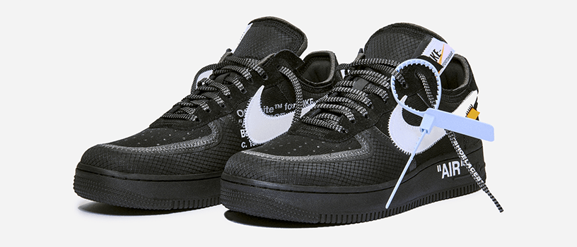 "【12月19日(水)】NIKE AIR FORCE 1 LOW x OFF-WHITE ""BLACK & VOLT"""