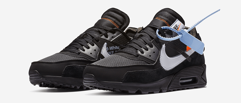 "【抽選:2月27日(水)まで】NIKE AIR MAX 90 x OFF-WHITE ""BLACK"" & ""DESERT ORE"""