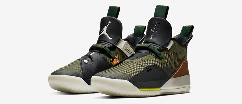 "【2月15日(金)】NIKE AIR JORDAN 33 x TRAVIS SCOTT ""ARMY OLIVE"""