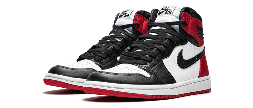 "【海外抽選】NIKE WMNS AIR JORDAN 1 RETRO HIGH ""SATIN BLACK TOE"""
