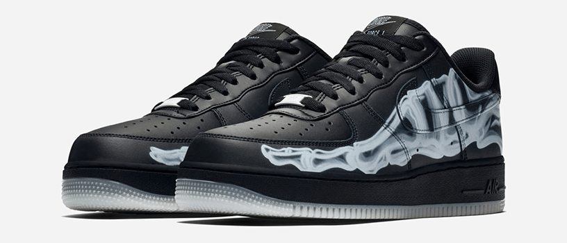 "【10月25日(金)】NIKE AIR FORCE 1 ""BLACK SKELETON"""