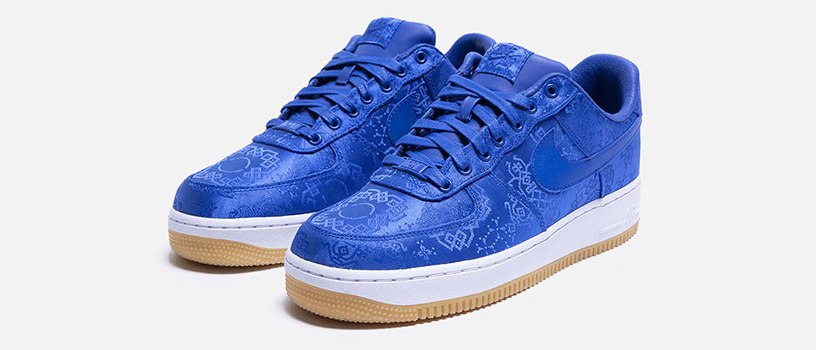 "【11月11日(月)】NIKE AIR FORCE 1 × CLOT ""ROYALE UNIVERSITY BLUE SILK"""