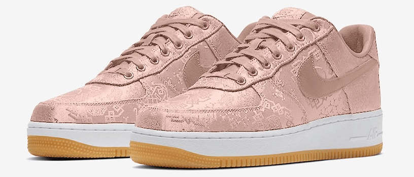 "【海外:2020年1月21日(火)~】NIKE AIR FORCE 1 × CLOT ""ROSE GOLD SILK"""