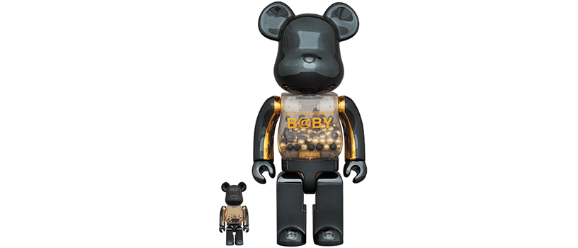 【2月1日(土)~】MY FIRST BE@RBRICK B@BY INNERSECT BLACK & GOLD Ver.