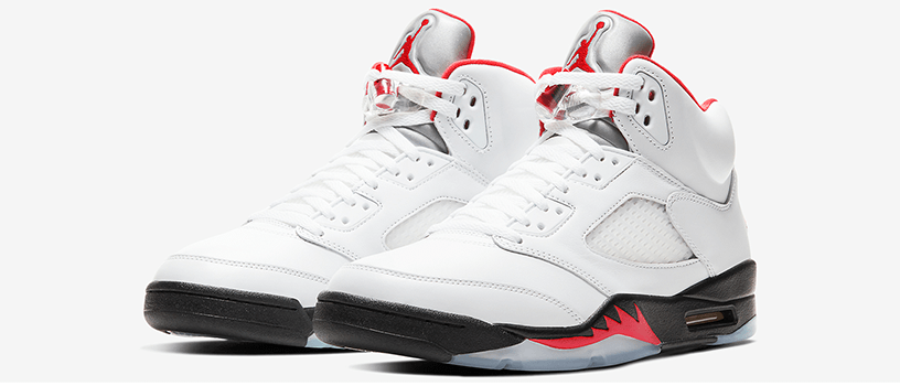 "【抽選:6月5日(金)まで】NIKE AIR JORDAN 5 RETRO ""FIRE RED"""