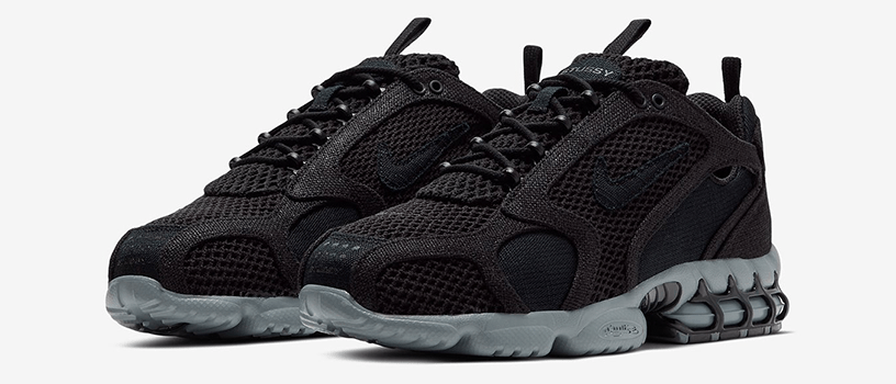 "【5月15日(金)】NIKE AIR ZOOM SPIRIDON CAGED 2 x STÜSSY ""BLACK / COOL GREY"""