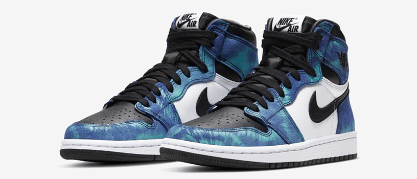 "【6月16日(火)11時~】NIKE WMNS AIR JORDAN 1 HIGH OG ""TIE-DYE"""