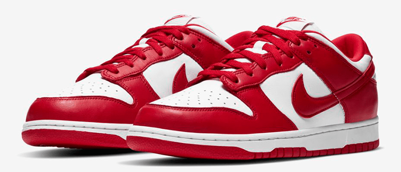 "【抽選:6月28日(日)まで】NIKE DUNK LOW ""UNIVERSITY RED"""