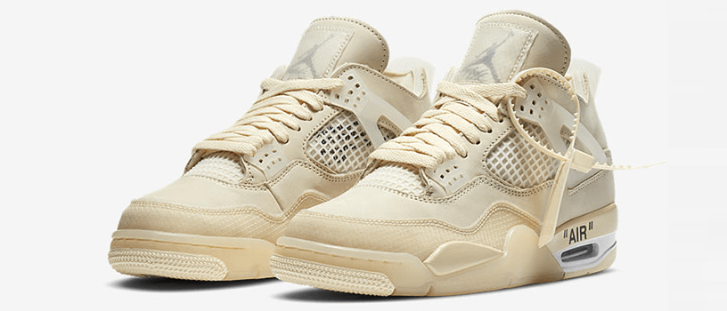 "【抽選:7月27日(月)まで】NIKE WMNS AIR JORDAN 4 x OFF-WHITE ""SAIL"""