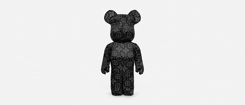 "【9月26日(土)~】CLOT x NIKE x MEDICOM TOY ""BLACK SILK"" BE@RBRICK 1000%"
