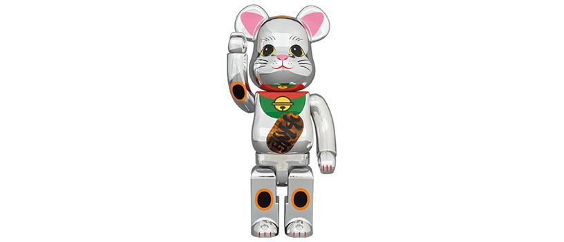 【7月27日(月)12時~】BE@RBRICK 招き猫 銀メッキ 発光 400%