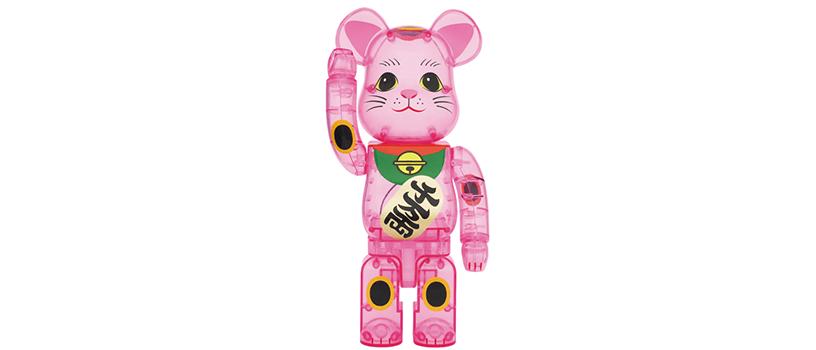 【8月31日(月)12時~】BE@RBRICK 招き猫 桃色透明 400%