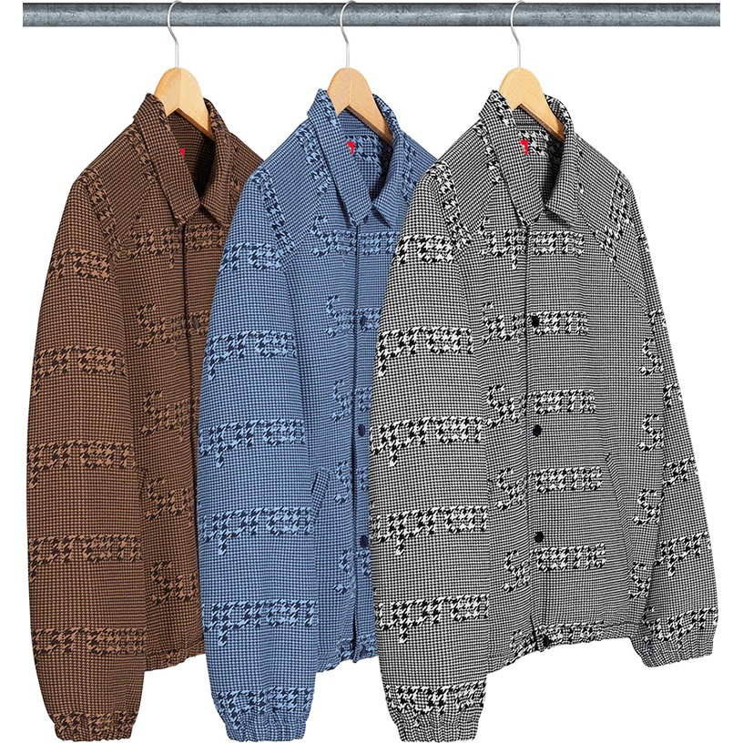 Houndstooth Logos Snap Front Jacket