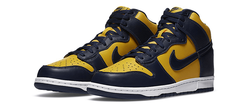 "【抽選:9月25日(金)まで】NIKE DUNK HIGH SP ""MICHIGAN"""