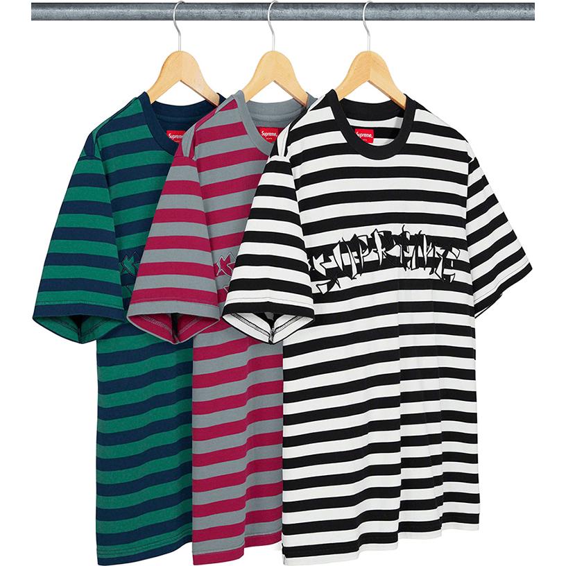 Stripe Appliqué S/S Top