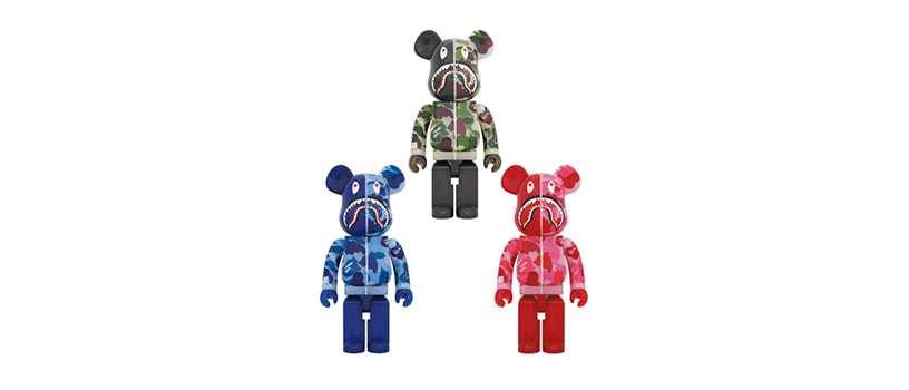 【9月26日(土)】BE@RBRICK CLEAR ABC CAMO SHARK