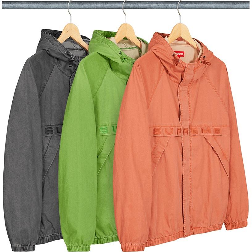 Overdyed Twill Hooded Jacket