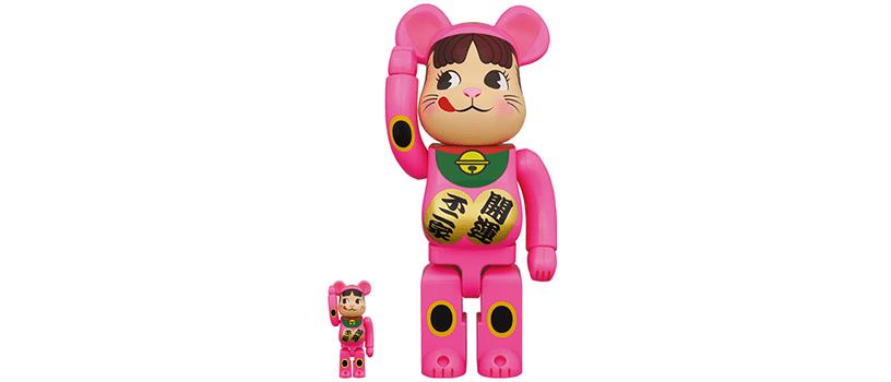 【抽選:10月12日(月)まで】BE@RBRICK 招き猫 ペコちゃん 蛍光ピンク 100% & 400%