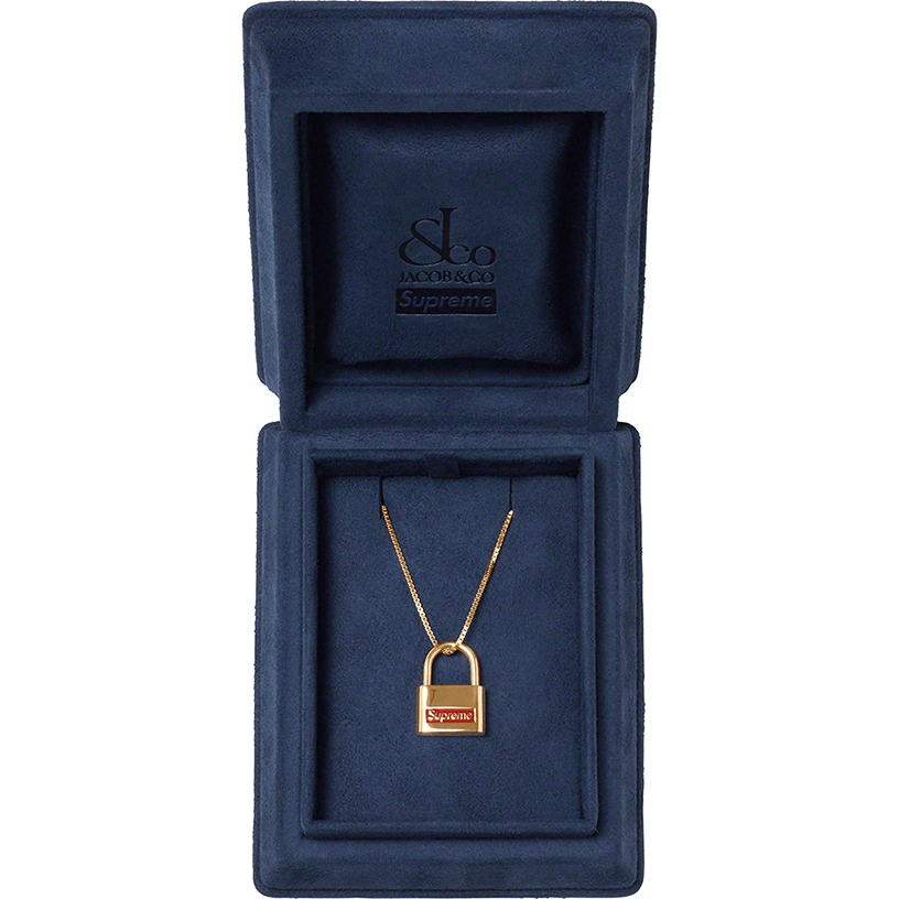 Supreme®/Jacob & Co. 14K Gold Lock Pendant