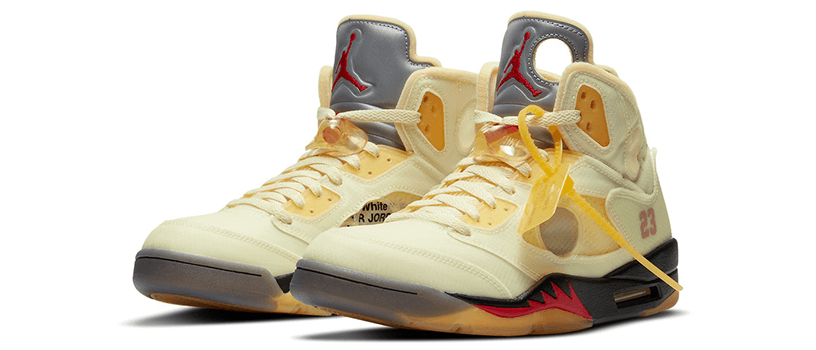 "【10月29日(木)】NIKE AIR JORDAN 5 RETRO SP x OFF-WHITE ""SAIL"""