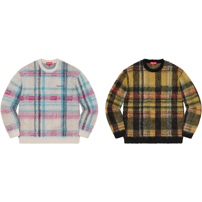 Brushed Plaid Sweater