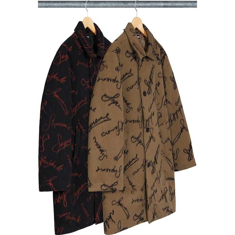 Script Logos Wool Overcoat