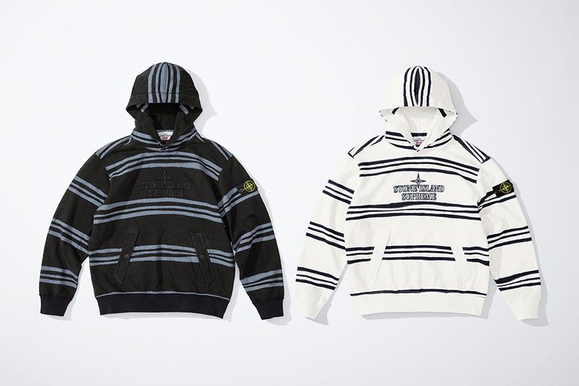 Supreme®/Stone Island® Warp Stripe Hooded Sweatshirt