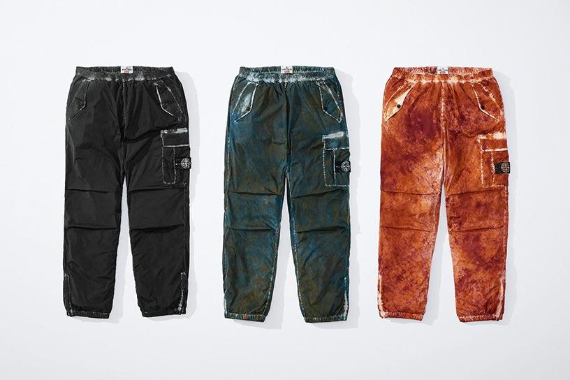 Supreme®/Stone Island® Painted Camo Nylon Cargo Pant