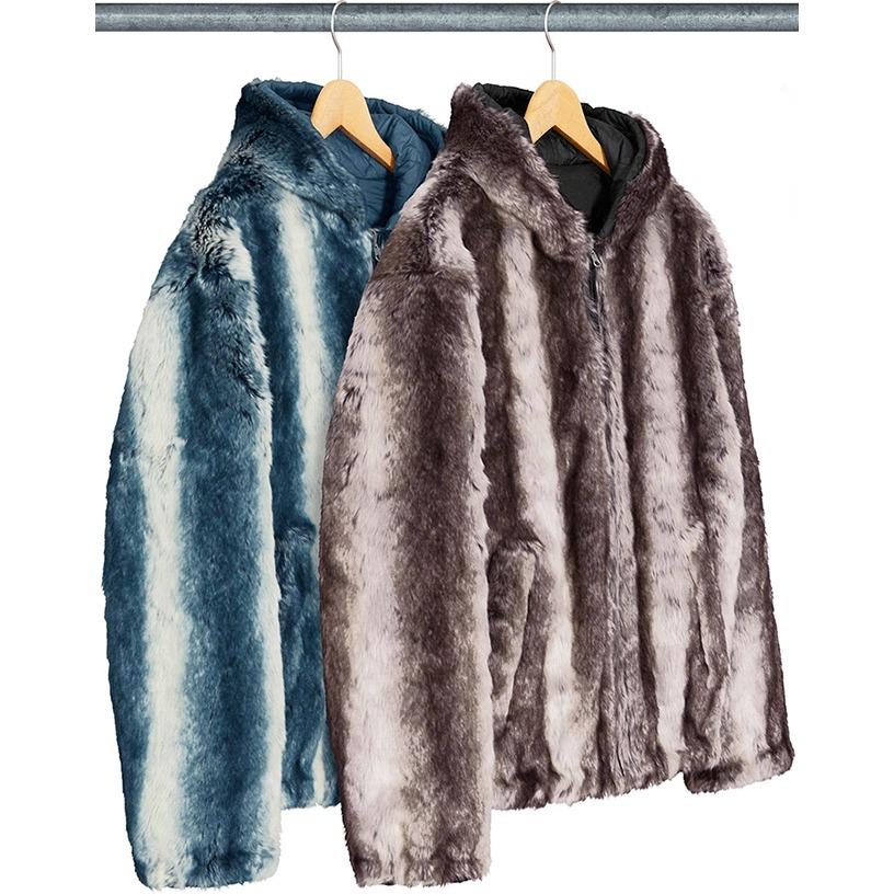 Faux Fur Reversible Hooded Jacket