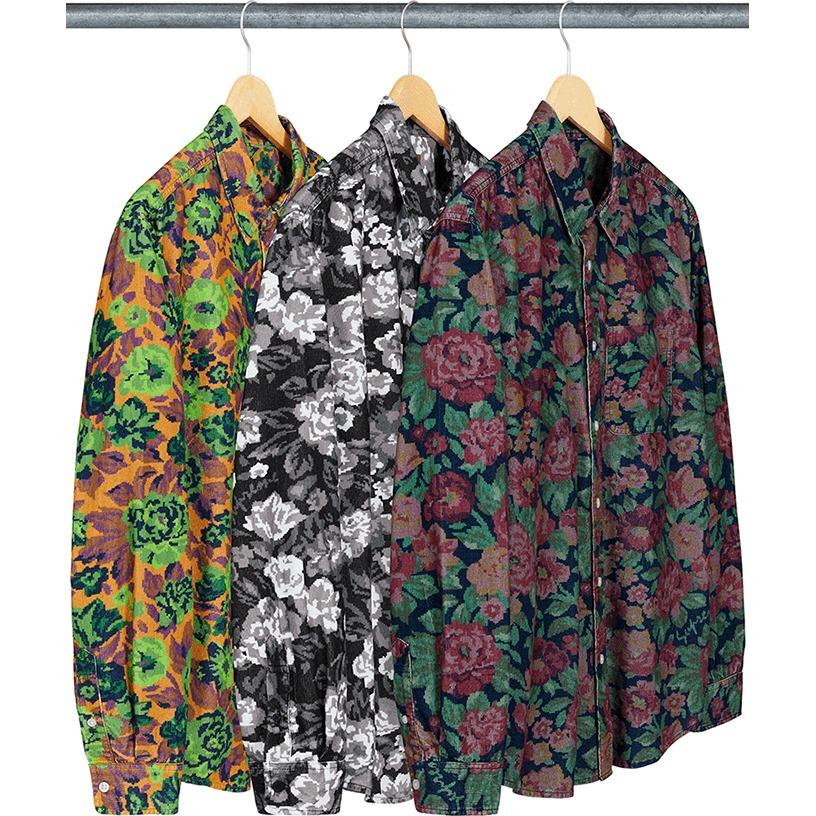 Digi Floral Corduroy Shirt