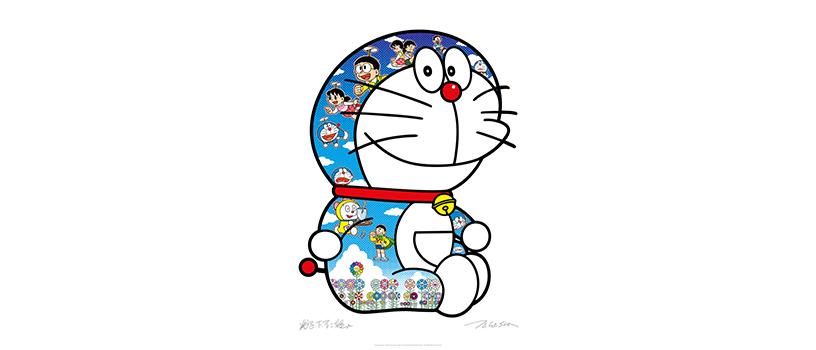 【11月30日(月)10時~】村上隆 ドラえもん コラボエディションサイン入りポスター作品2種
