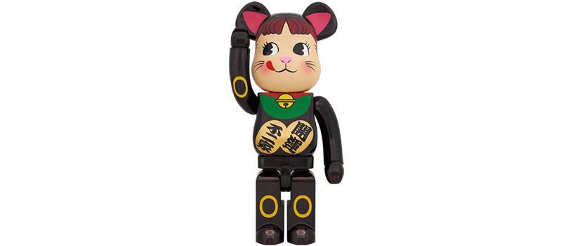 【抽選:12月3日(木)10時~】BE@RBRICK 招き猫 ペコちゃん 黒メッキ