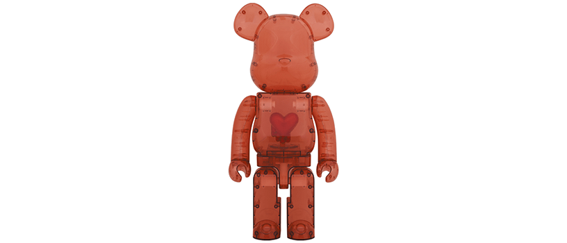 【12月12日(土)】BE@RBRICK Emotionally Unavailable Clear Red Heart 1000%