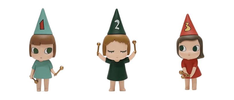 【12月28日(月)】奈良美智 フィギュア ドラミング・ガール 123(123 Drumming Girls)