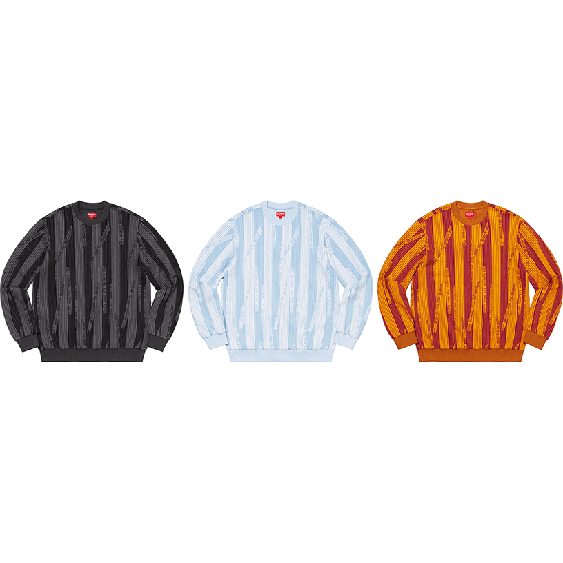 Textured Stripe Crewneck