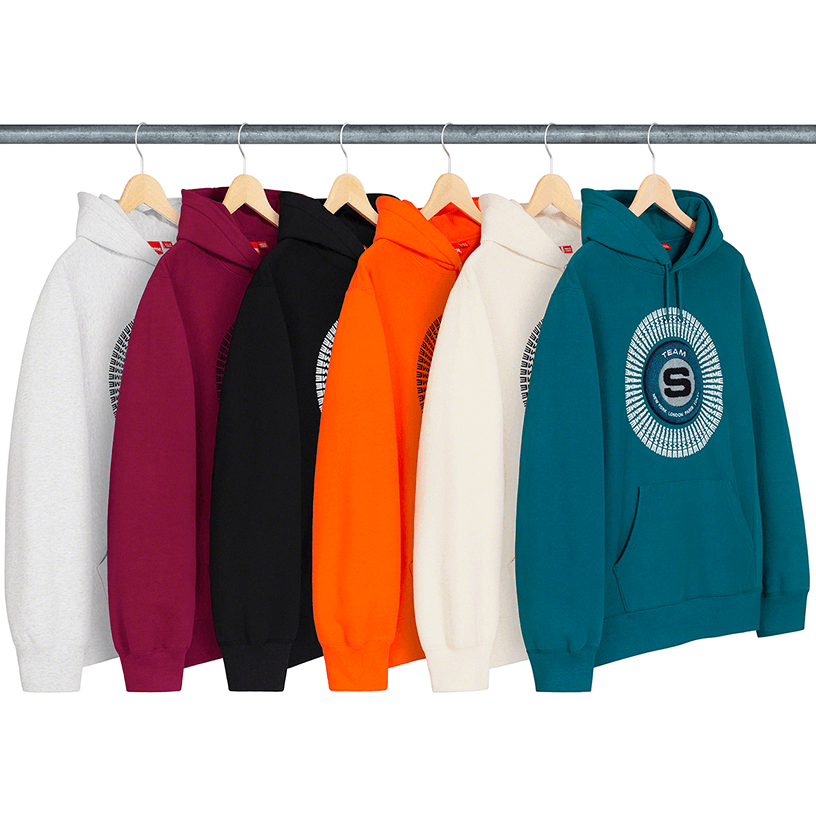Chenille Appliqué Hooded Sweatshirt