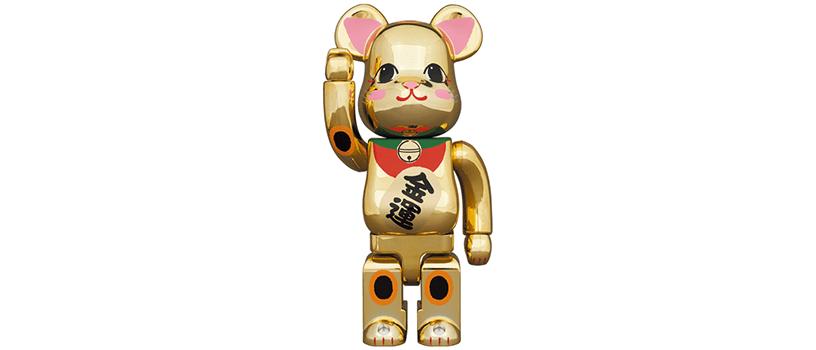 【2021年1月9日(土)12時~】BE@RBRICK 招き猫 金運 金メッキ 弐