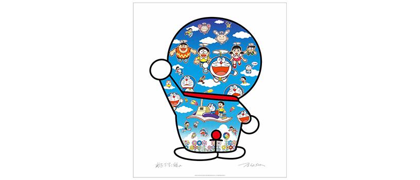 【12月25日(金)】村上隆 ドラえもん コラボエディションサイン入りポスター作品2種
