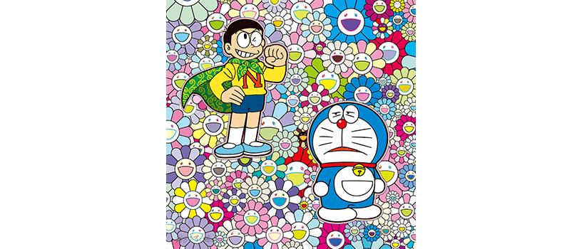 【12月28日(月)10時~】村上隆 ドラえもん コラボエディションサイン入りポスター作品3種