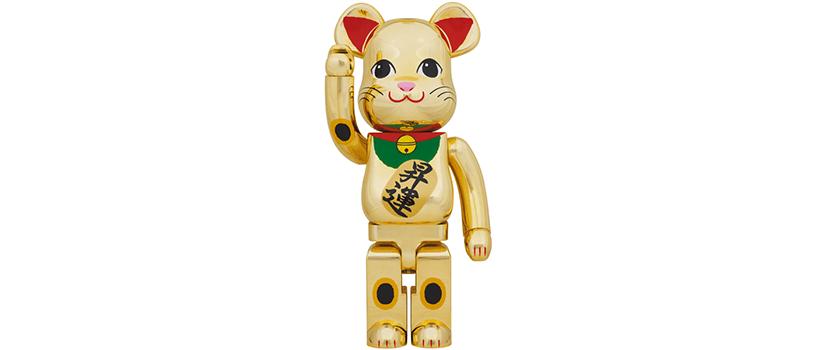 【2021年1月31日(日)~】BE@RBRICK 招き猫 金メッキ 昇運 1000%