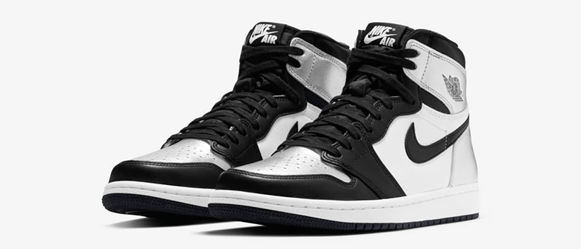 "【3月10日(水)12時~】NIKE WMNS AIR JORDAN 1 RETRO HIGH OG ""SILVER TOE"""