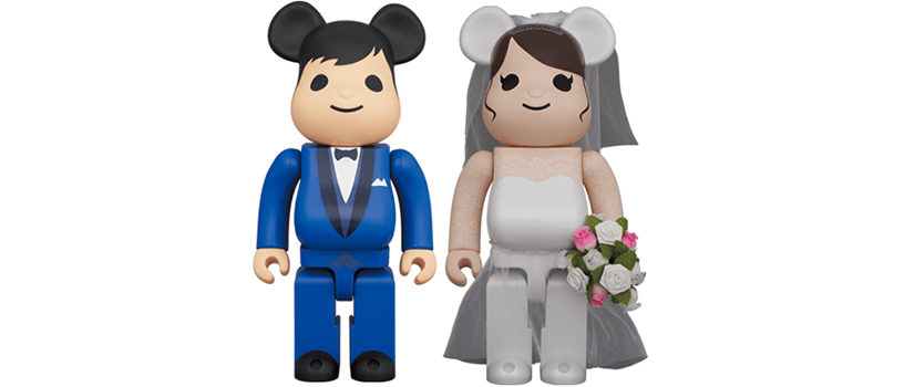【抽選:4月18日(日)まで】BE@RBRICK グリーティング 結婚 4 PLUS