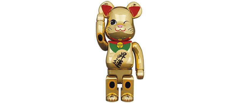 【2月23日(火)12時~】BE@RBRICK 招き猫 昇運 弐 金メッキ